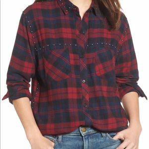 Rails Studded Plaid Shirt